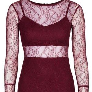 Topshop Longsleeve Lace Dress